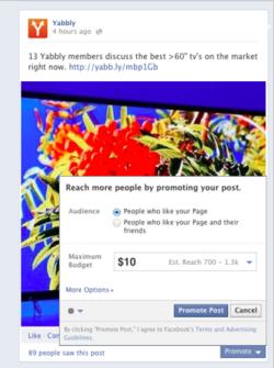 budget Facebook